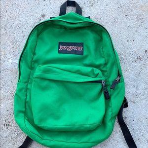 Vintage 90s JANSPORT Hiking Travel Backpack Green